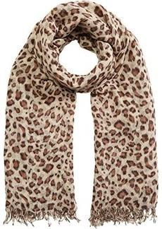 Chan Luu Leopard Cashmere and Silk Scarf