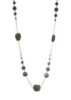 Chan Luu Matte Silver Druzy Agate, Mystic Lab & Sterling Silver Necklace