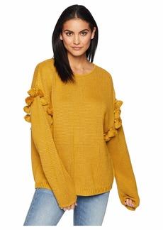 Chan Luu Oversize Pom Pom Sweater