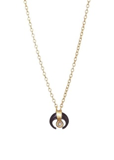 Chan Luu Petite Black Horn Necklace with Champagne Diamond