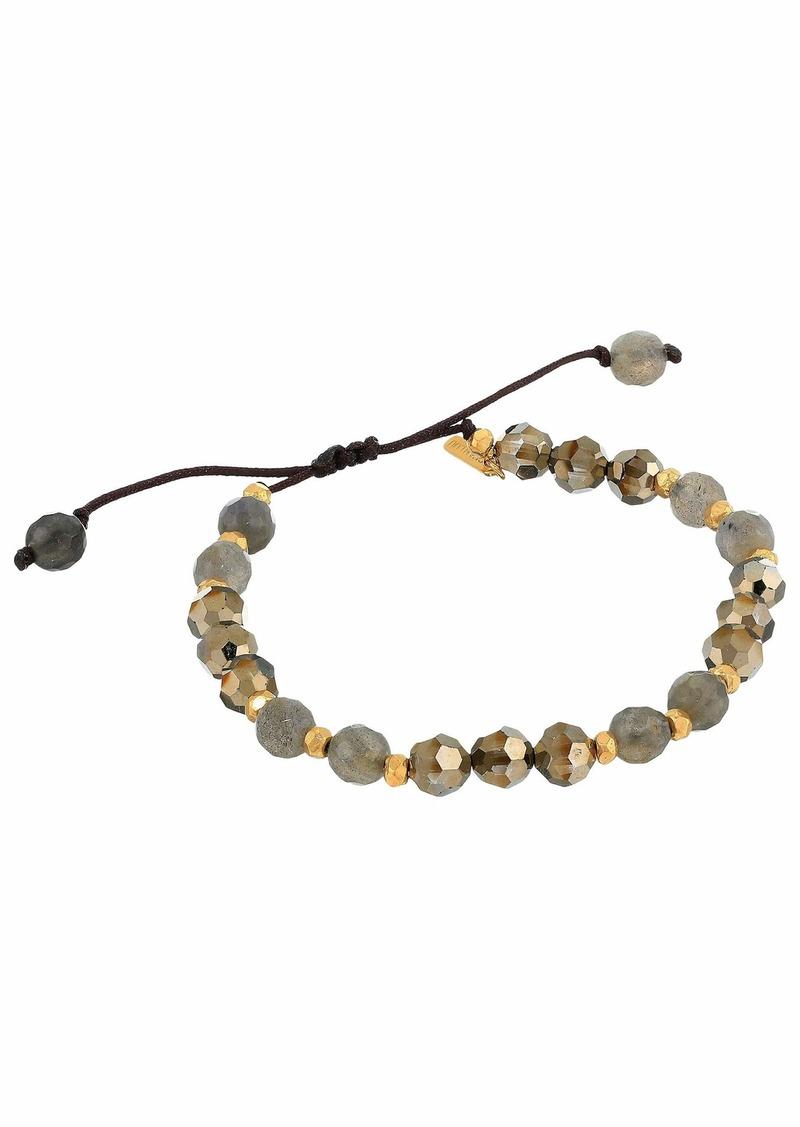 Chan Luu Pull Tie Bracelet with Labradorite Mix Stones