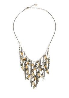Chan Luu Pyrite Mix Fringe Sterling Silver Necklace