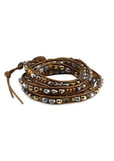 Chan Luu Pyrite Mix Wrap Bracelet