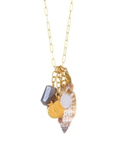 Chan Luu Seashell & 18K Goldplated Sterling Silver Charm Necklace