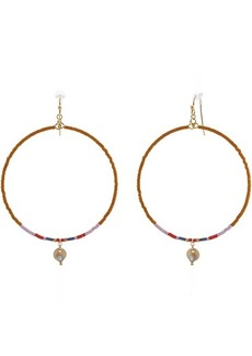Chan Luu Seed Bead Hoop Earrings
