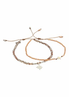Chan Luu Set of 2 Pull Tie Bracelets with Star Charm