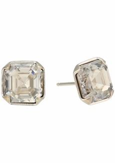 Chan Luu Silver Crystal Stud Earrings