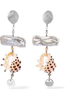 Chan Luu Silver, Pearl And Shell Earrings