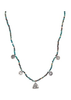 Chan Luu Stainless Steel Charm Beaded Necklace