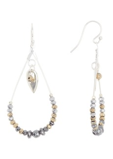 Chan Luu Stationed Trim Tear Drop Charm Lined Earrings