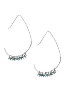 Chan Luu Sterling Silver & Turquoise Angular Hoop Earrings