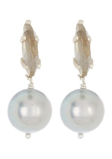 Chan Luu Sterling Silver 9mm Pearl & Stone Drop Earrings