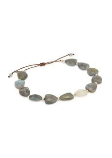 Chan Luu Sterling Silver, Labradorite, Rutilated Quartz & Pyrite Bracelet