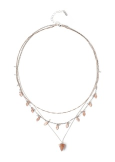 Chan Luu Sterling Silver Leaf Charm Layered Necklace
