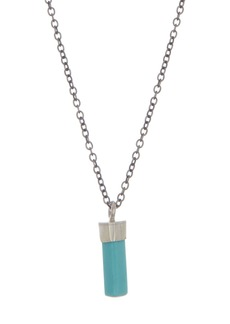 Chan Luu Sterling Silver Stone Pendant Necklace