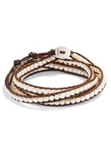 Women's Chan Luu Beaded Leather Wrap Bracelet