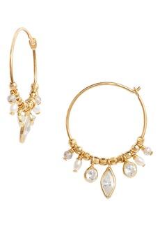 Women's Chan Luu Crystal Drop Hoop Earrings