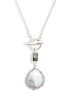 Women's Chan Luu Freshwater Pearl & Labradorite Pendant Necklace