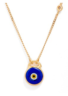 Women's Chan Luu Hand Painted Evil Eye Stone Pendant Necklace