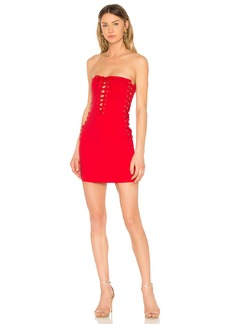 Chanel Lace Up Tube Dress