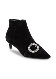 Charles David Adora Crystal Buckle Ankle Boots