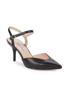 Charles David Arden Leather Point-Toe Pumps