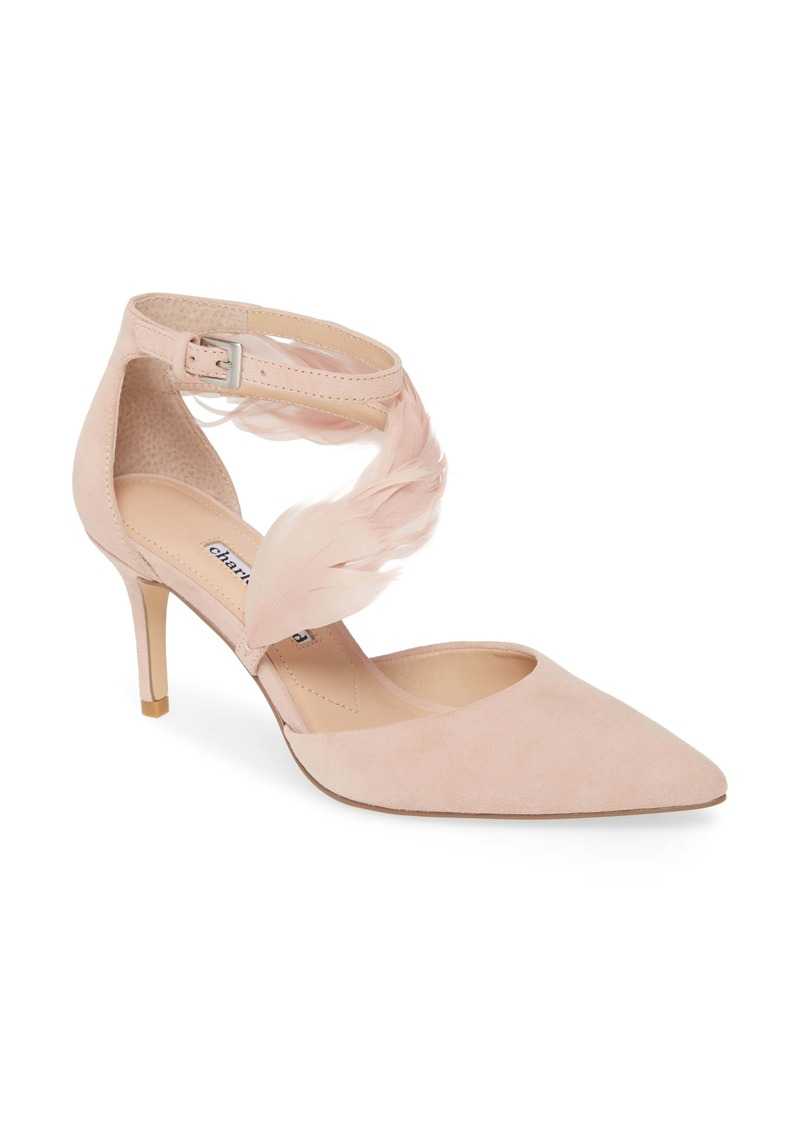 Charles David Attract Feather Embellished Pump (Women)
