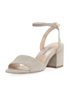 Charles David Bristol Suede Ankle-Wrap Sandal