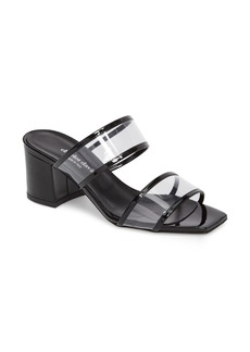 Charles David Cally Transparent Strap Slide Sandal (Women)
