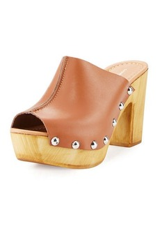 Charles David Cari Leather Studded Platform Sandal