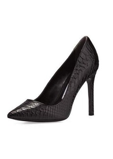 Charles David Caterina Snake-Embossed Leather Pump
