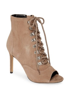Charles David Charlye Lace-Up Peep Toe Bootie (Women)