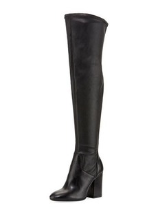Charles David Clarice Stretch-Leather Knee-High Boot