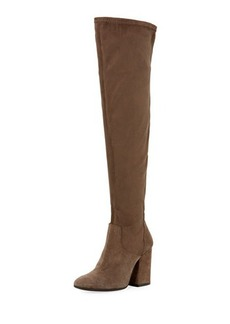 Charles David Clarice Stretch-Suede Knee-High Boot