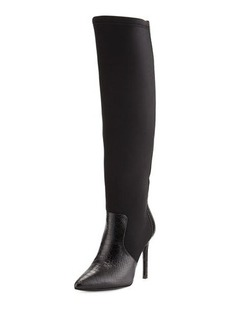 Charles David Constance Snake-Embossed High-Heel Boot