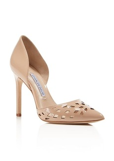 Charles David Contessa Perforated Pointed Toe d'Orsay Pumps