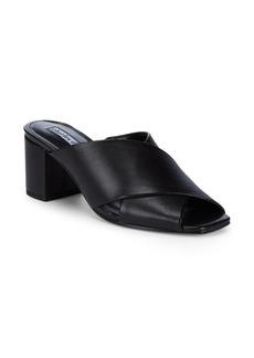 Charles David Crissaly Block Heel Leather Sandals