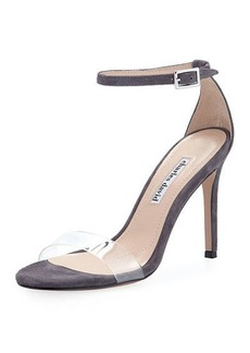 Charles David Cristal High Suede Dressy Sandal