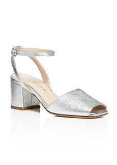 Charles David Cube Metallic Mid Block Heel Sandals