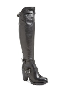 Charles David Delaware Knee High Buckle Strap Boot (Women)
