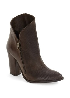 Charles David Diamond Embossed Pointy Toe Bootie (Women)