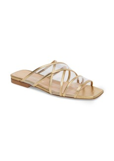 Charles David Drea Transparent Strap Slide Sandal (Women)
