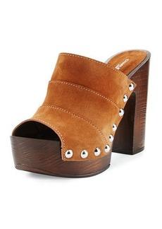 Charles David Ellina Suede Studded Platform Sandal