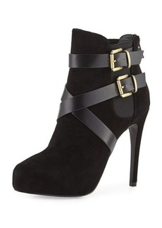 Charles David Fame Leather and Suede Platform Bootie