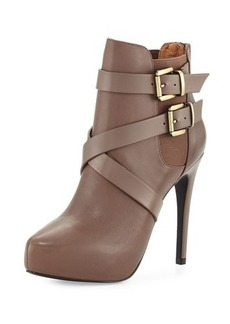 Charles David Fame Leather Platform Bootie