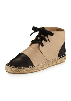 Charles David Harlow Leather Espadrille High-Top Sneaker