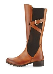 Charles David Hilda Leather Gored Mid-Calf Boot