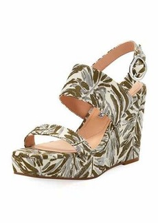 Charles David Jordan Botanical Wedge Sandal