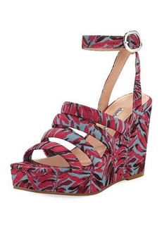 Charles David Judy Strappy Fabric Wedge Sandal