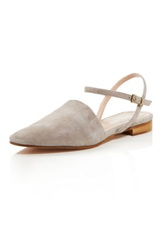 Charles David Mellow Suede Ankle Strap Flats